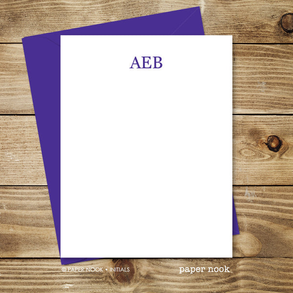 Initials Note Cards