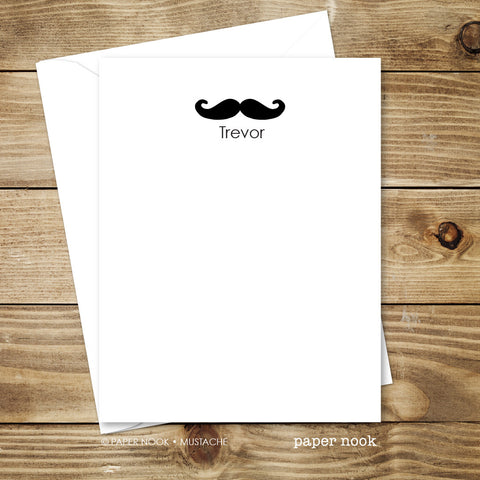 Mustache Note Cards