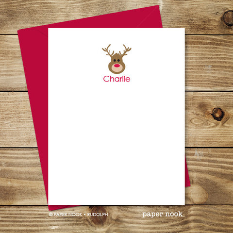 Rudolph Note Cards
