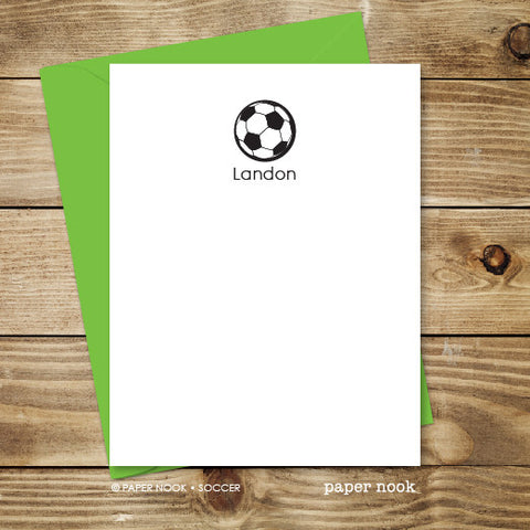 Soccer Ball Note Cards