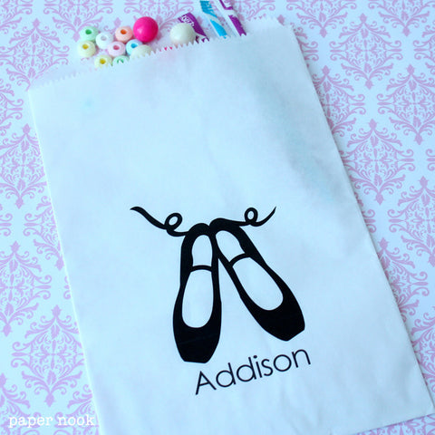 Ballet Shoes Paper Favor Bag