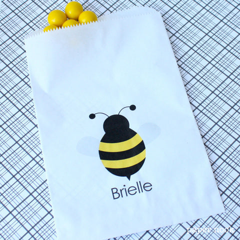 Bee Paper Favor Bag
