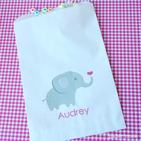Elephant Paper Favor Bag