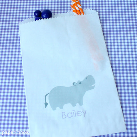 Hippo Paper Favor Bag