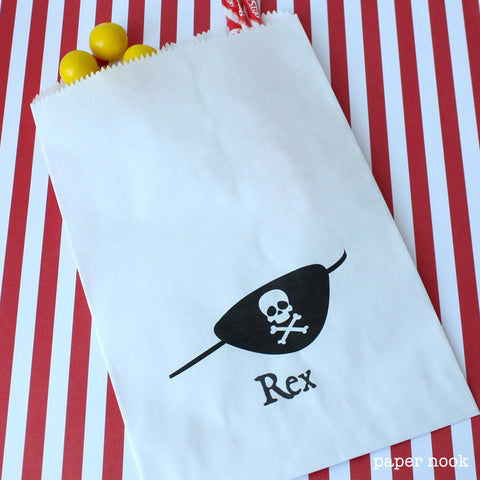 Pirate Patch Paper Favor Bag