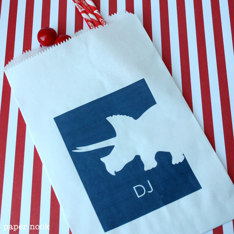 Dinosaur Paper Favor Bag