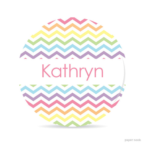 Chevron Rainbow Plate