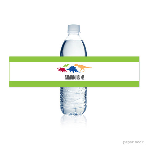 PRINTABLE Dinosaur Water Bottle Label