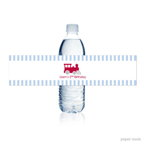 PRINTABLE Train Water Bottle Label