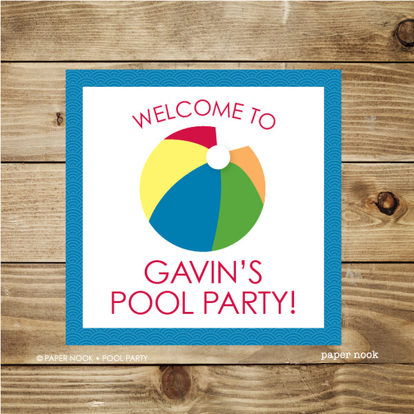 Printable Pool Party Welcome Sign By Paper Nook Paper Nook