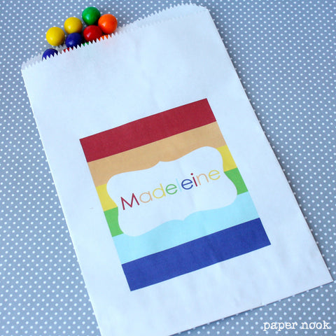 Rainbow Paper Favor Bag