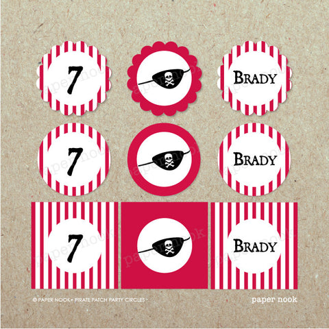 PRINTABLE Pirate Patch Party Circles