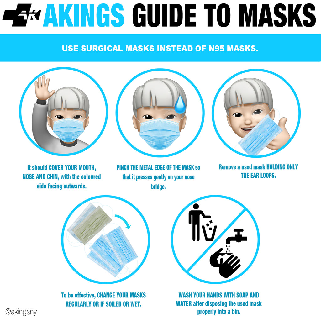 HOW TO WEAR FACE MASKS
