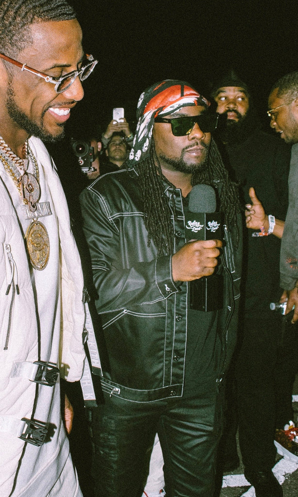 Wale In Victor Jacket and Omari with Fab