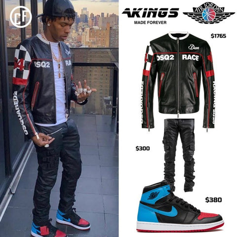 Lil Baby Styles AKings Denim with DSQUARED and Jordans