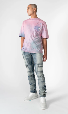 Summer Tee and Kyle Blue Jeans for Men