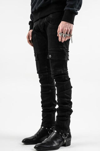 Black Kyle stacked jeans