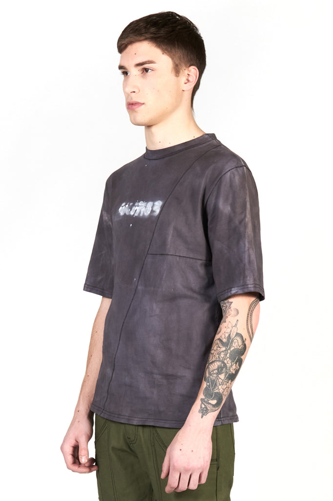 angled shot of model wearing recruit tee