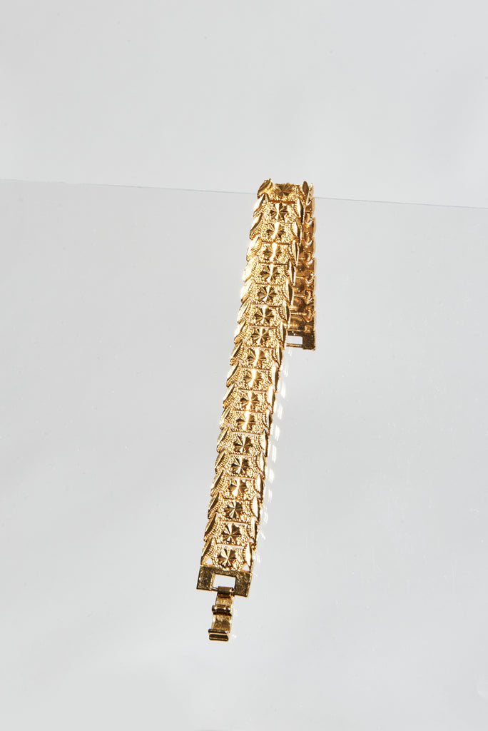 YELLOW GOLD STAR BRACELET - AKINGS