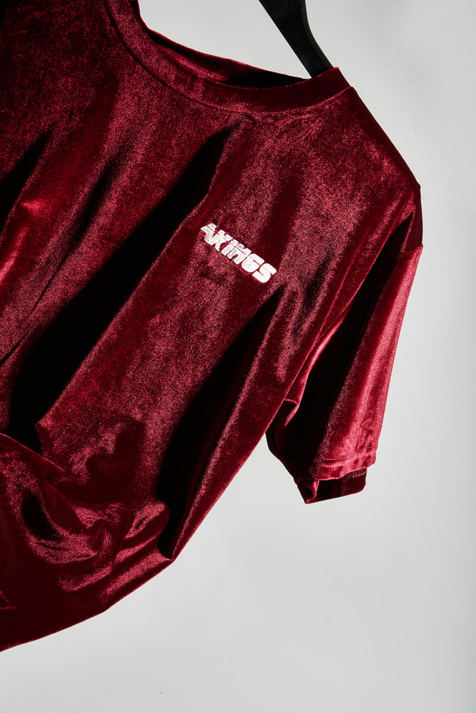 RED VELOUR SHIRT FRONT 1