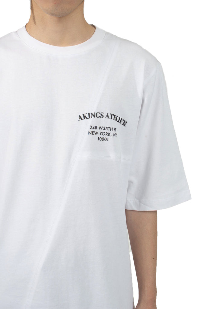 AKINGS ATELIER WHITE TEE SHIRT