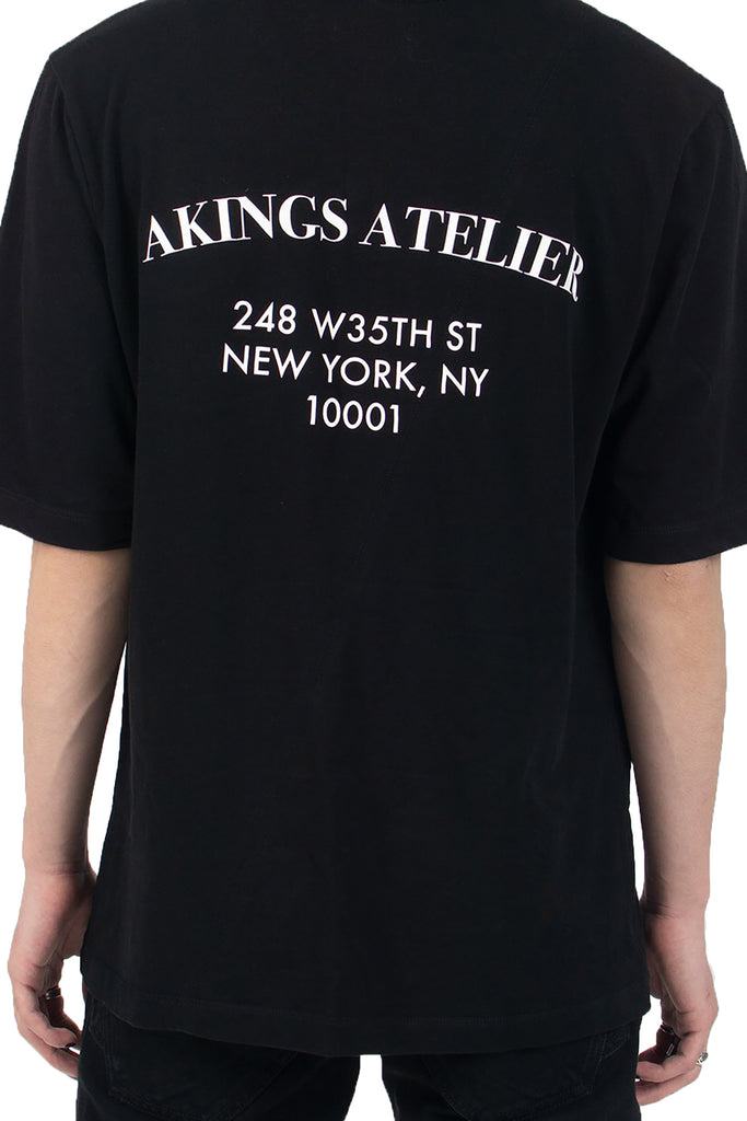 ATELIER BLACK TEE SHIRT - AKINGS