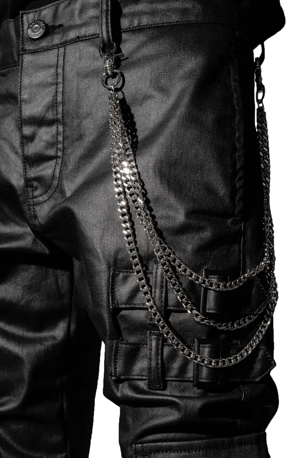 DENIM BIKER CHAIN