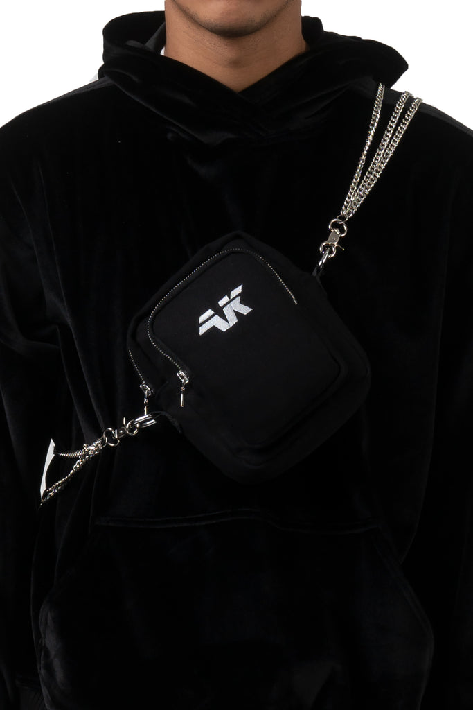 AK DENIM SHOULDER CHAIN BAG