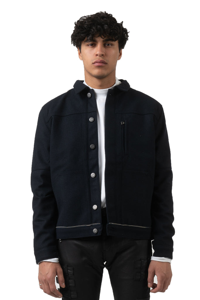 AZEL WOOL BLUE JACKET - AKINGS