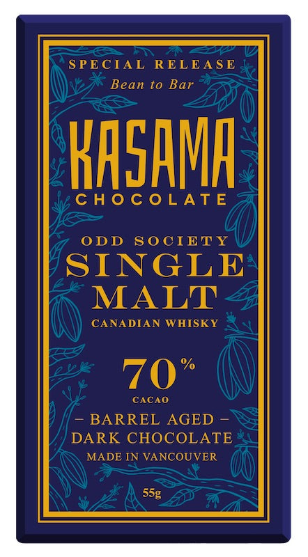 Kasama Chocolate Odd Society Single Malt 70%