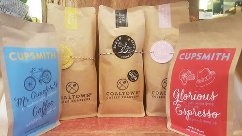 Premium coffee from small artisan UK roasters