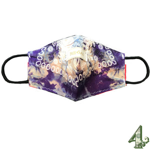 Tye and Dye purple 4 Mask