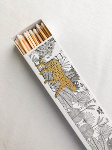 CHEETAH IN THE JUNGLE LONG MATCH BOX