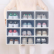 Load image into Gallery viewer, 6 PCS Transparent Shoes Storage Boxes