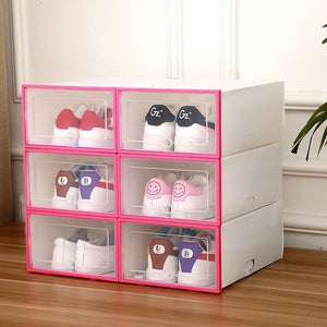 6 PCS Transparent Shoes Storage Boxes