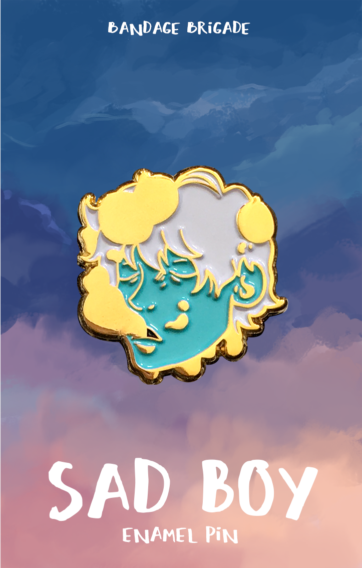 Sad Boy Pin