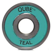 Load image into Gallery viewer, Bladeworx Bearings 8mm QUBE Teal Bearings 16 Pack