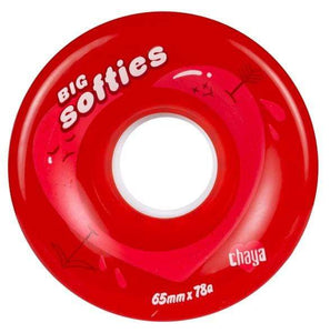 Bladeworx Clear Red Chaya Big Softies Outdoor Wheels : 65mm 78a 4pk : Choice of Colour