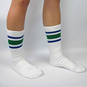 "Bladeworx Green/Blue Skater Socks 19"" : Assorted Colours"