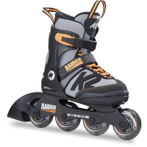 K2 Raider Orange Kids Adjustable Inline Skates - Bladeworx