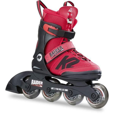 K2 Raider Pro Red Kids Adjustable Inline Skates - Bladeworx