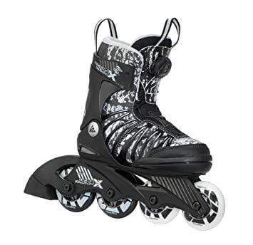 K2 Sk8 Hero X BOA Black/White Kids Adjustable Inline Skates - Bladeworx