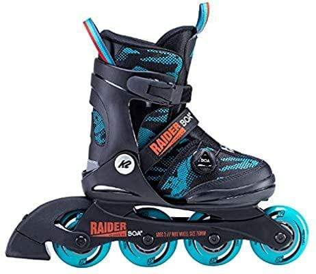 Bladeworx inline skates K2 Raider Boa Kids Adjustable Inline Skates Blue and Orange