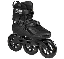 Load image into Gallery viewer, Bladeworx inline skates US 5-6 or EU 38-39 POWERSLIDE TRINITY VANTA BLACK 125 Freestyle Slalom Inline Skates