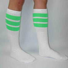 "Load image into Gallery viewer, Bladeworx Neon Green Copy of Skater Socks 19"" : Assorted Colours"