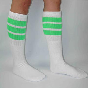 "Bladeworx Neon Green Copy of Skater Socks 19"" : Assorted Colours"