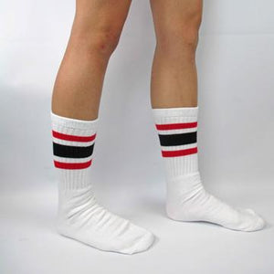 "Bladeworx Red/Black Skater Socks 19"" : Assorted Colours"