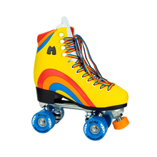 Load image into Gallery viewer, Bladeworx Roller Skate MOXI RAINBOW RIDER SUNSHINE YELLOW SKATES