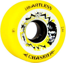 Load image into Gallery viewer, Bladeworx Roller Skate Wheels Chaser Yellow 59a Heartless 59mm x 38mm Wheels
