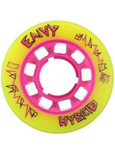 Load image into Gallery viewer, Bladeworx Roller Skate Wheels Reckless Envy Yellow Hybrid Wheels : 84a 59mm 4pk